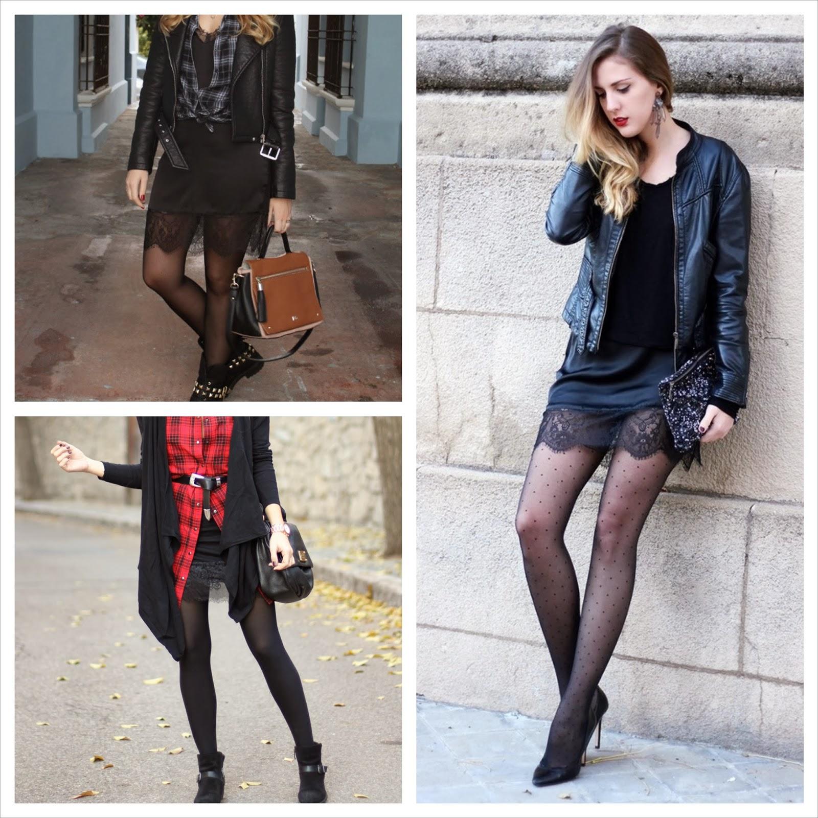 Usar medias con vestido corto