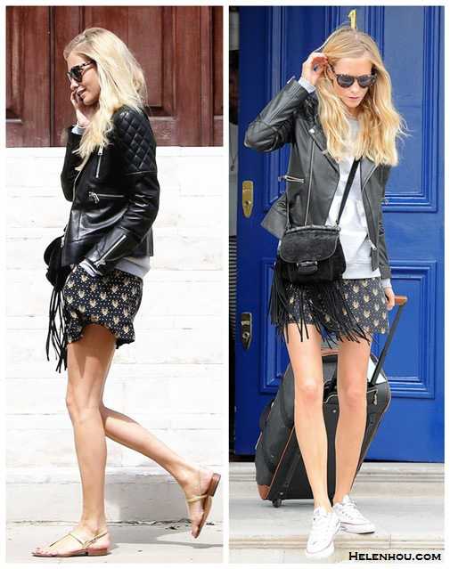 Poppy-Delevingne-style-House-of-Harlow-1960-Sunglasses-leather-Biker-JacketBoy-Toy-Sweatshirt-Gucci-Nouveau-Fringe-bag-sneakersandal-printed-shorts