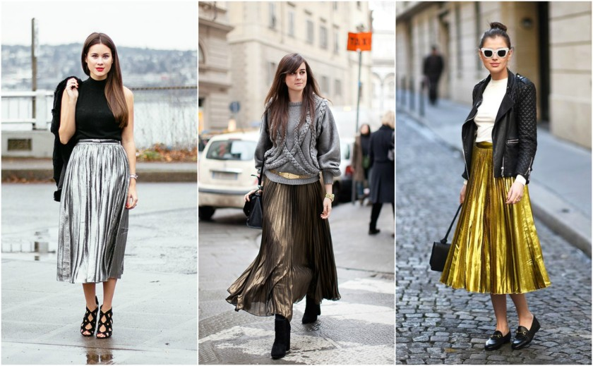 metallic-skirt
